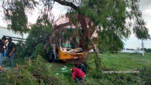 Accidente en la Mexico-Pachuca