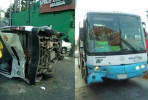 Volcadura deja 8 heridos en la México-Pachuca