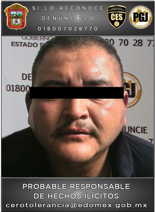 Detiene PGJEM a sujeto presuntamente relacionado con al menos 2 violaciones en Zumpango